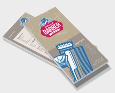DL Barber Shop Rack Card Template