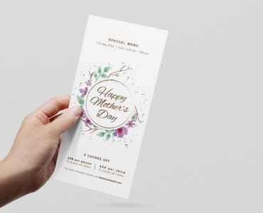 DL Mothers Day Menu Flyer Template