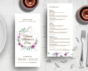 DL Mothers Day Menu Template