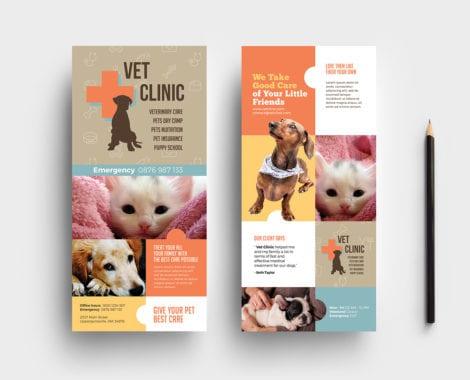 Vet Clinic DL Rack Card Template