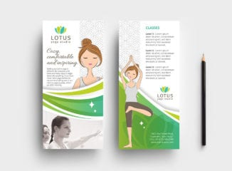 DL Yoga Studio Rack Card Template