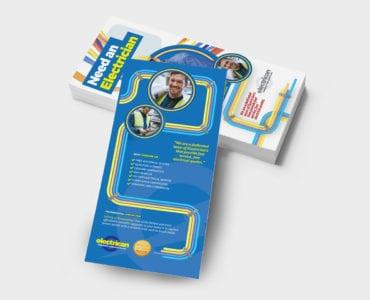 Electrician DL Rack Card Template