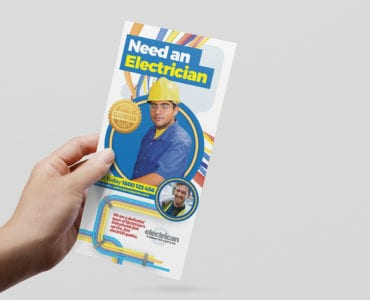 Electrician DL Rack Card Template