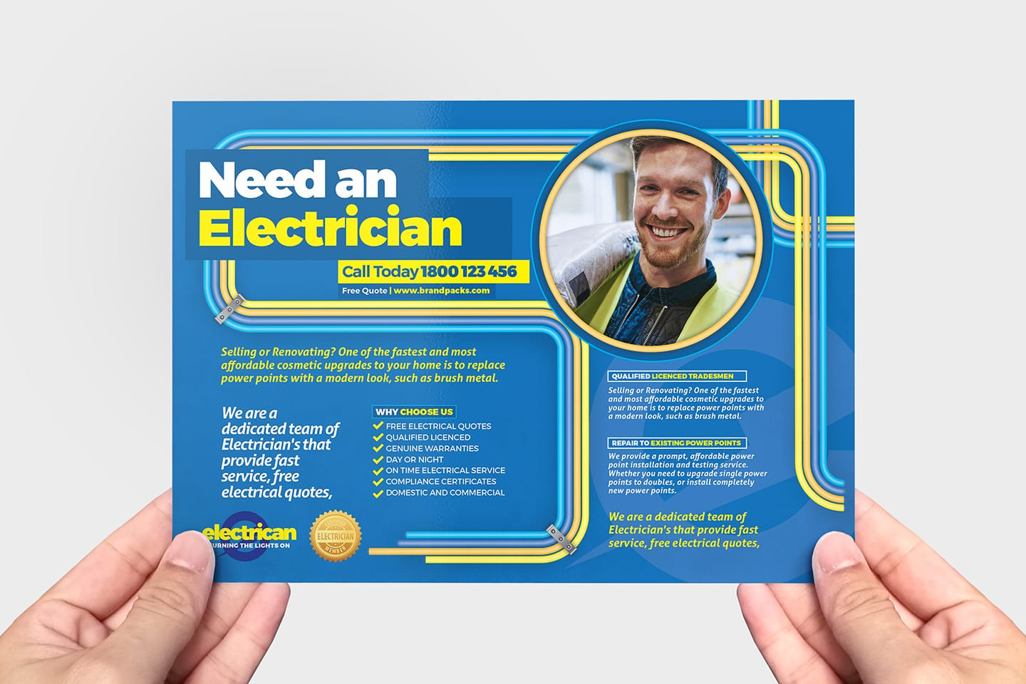 Electrician Flyer Template In Psd Ai Vector Brandpacks