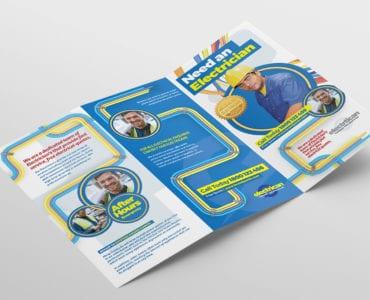 Electrician Tri-Fold Brochure Template