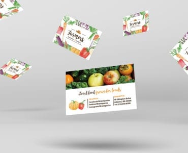 Farmer's Market Business Card Template