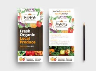 Farmers Market DL Rack Card Template