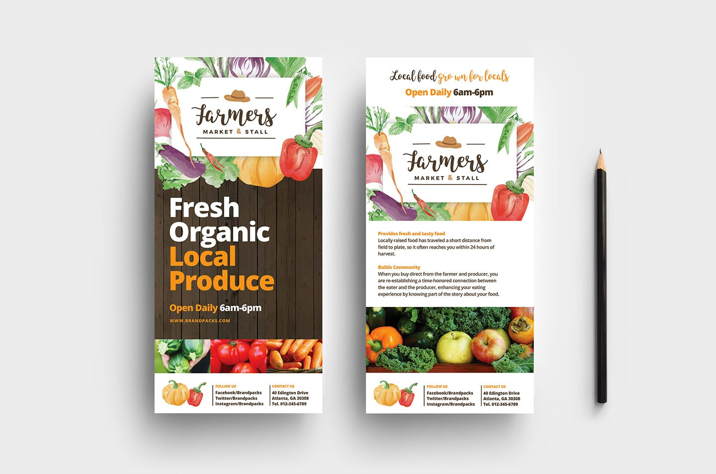 Farmers Market DL Rack Card Template