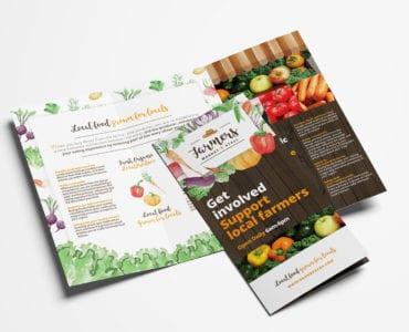 Farmers Market Tri-Fold Brochure Template