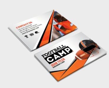 Football Camp Business Card Template