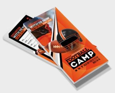 Football Camp DL Rack Card Template