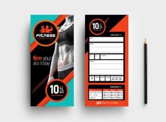 Gym / Fitness DL Rack Card Template