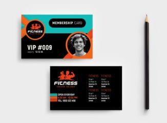 Gym / Fitness Membership Card Template