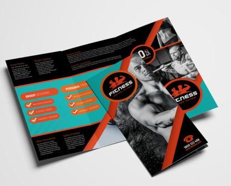 Gym / Fitness Tri-Fold Brochure Template