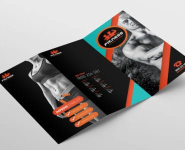 Gym / Fitness Tri-Fold Brochure Template