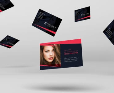 Hair Salon Business Card Template