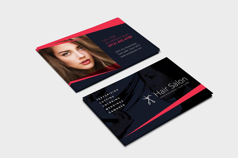 Hair Salon Business Card Template In Psd Ai Vector Brandpacks