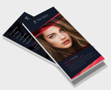 Hair Salon DL Rack Card Template