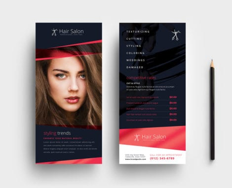 Hair Salon DL Rack Card Template