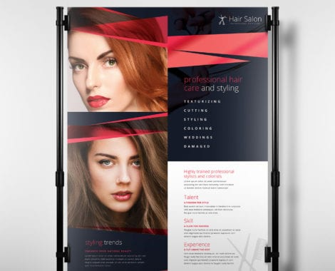 Hair Salon Poster Template