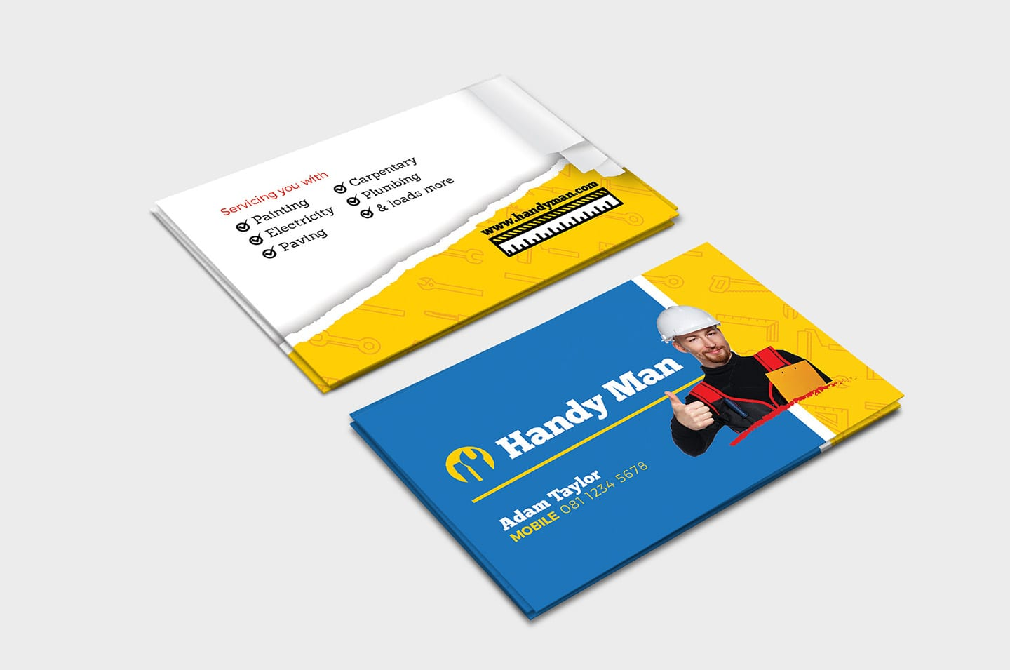 Handyman Business Card Template In Psd