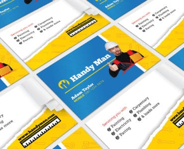 Handyman Business Card Template in PSD, Ai & Vector