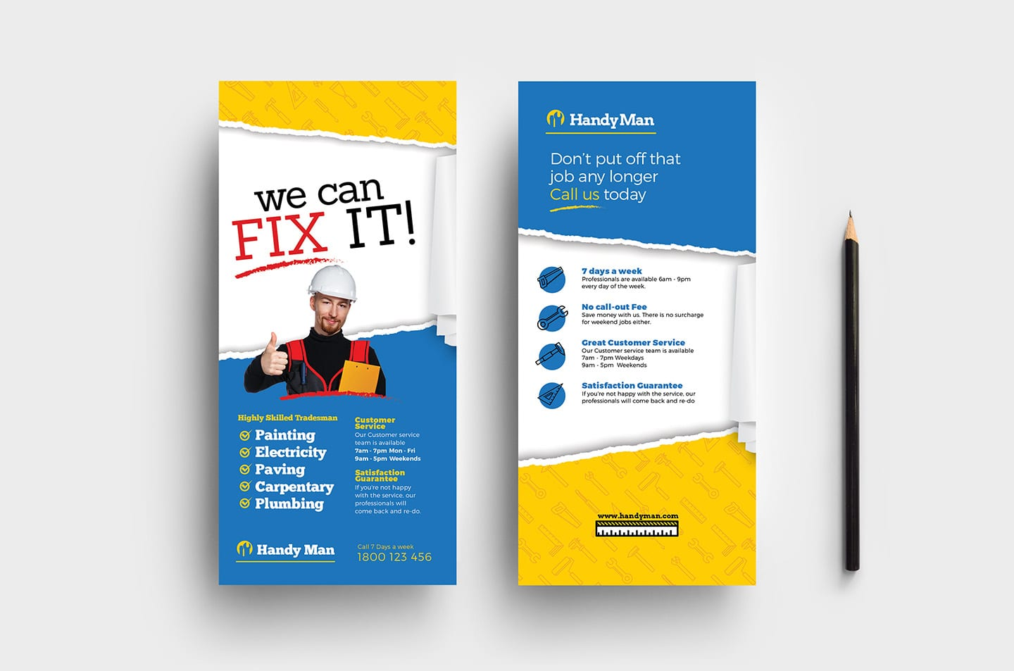Handyman DL Rack Card Template in PSD, Ai & Vector
