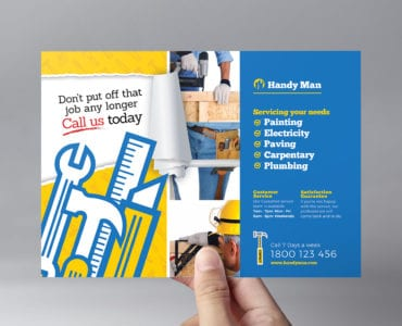 Handyman Flyer Template in PSD, Ai & Vector