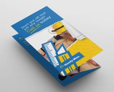 Handyman Tri-Fold Brochure Template in PSD, Ai & Vector