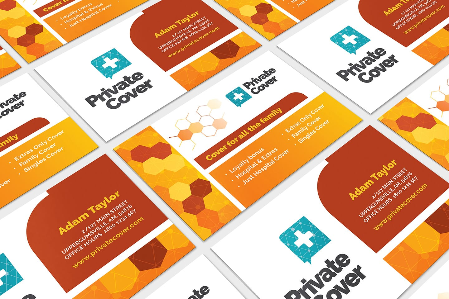 Health Insurance Business Card Template in PSD, Ai ...
