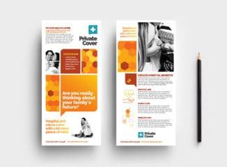 Health Insurance DL Rack Card Template
