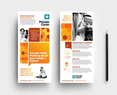 Health Insurance DL Rack Card Template