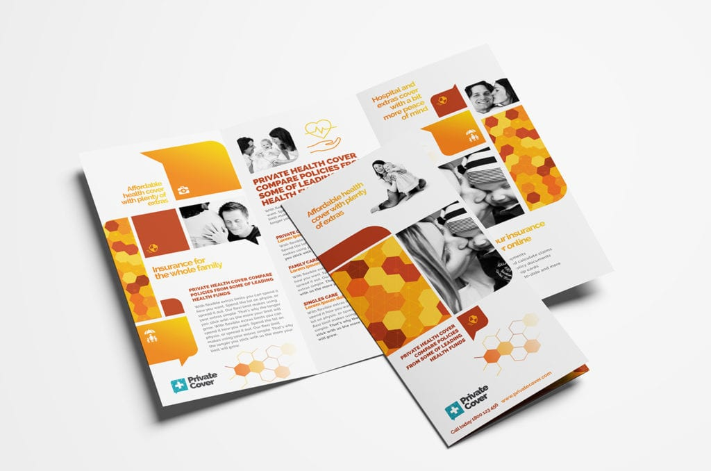 Health Insurance Tri-Fold Brochure Template