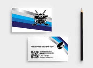 Hockey Club Business Card Template
