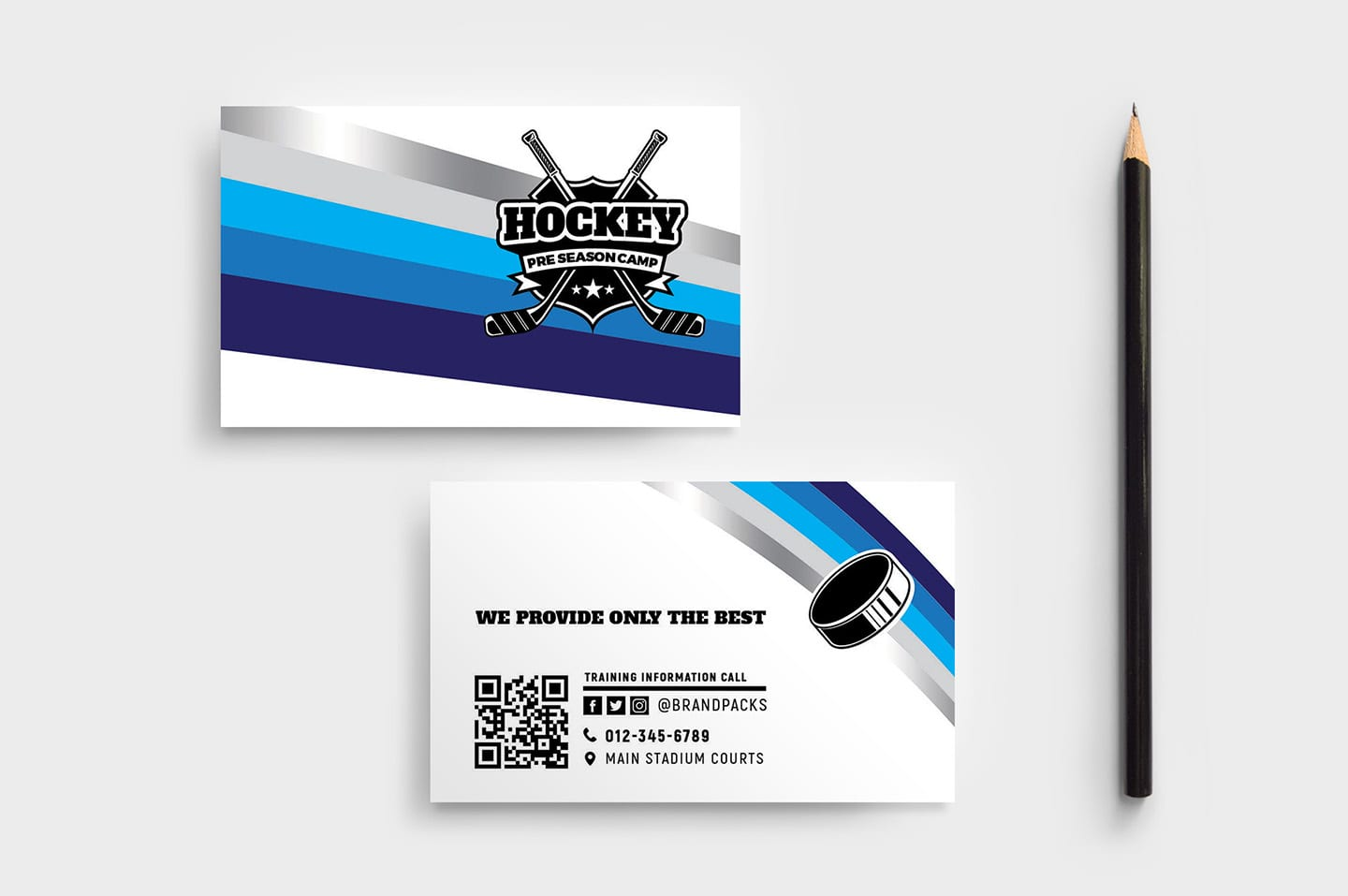 Hockey Club Business Card Template