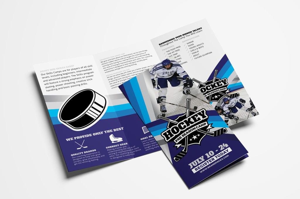 Hockey Club Tri-Fold Brochure Template