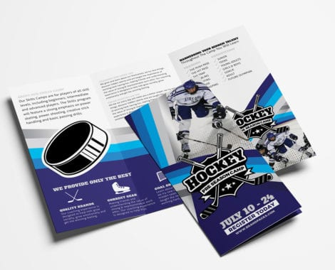 Hockey Club Tri-Fold Brochure Template
