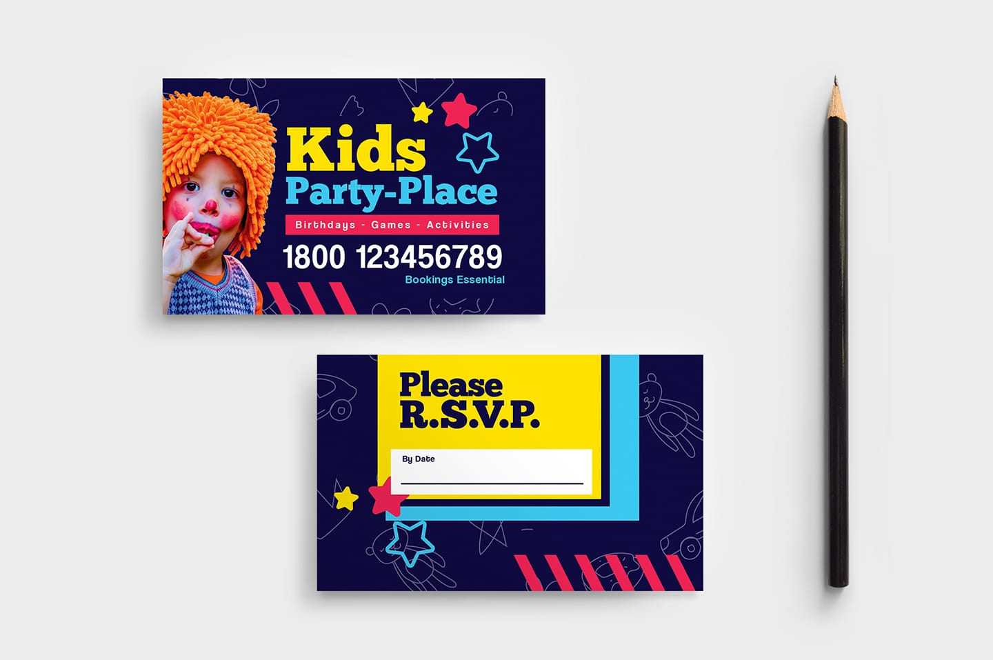 Kid's Party Business Card Template