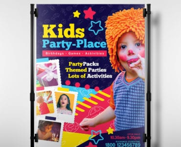 Kid's Party Place Poster Template