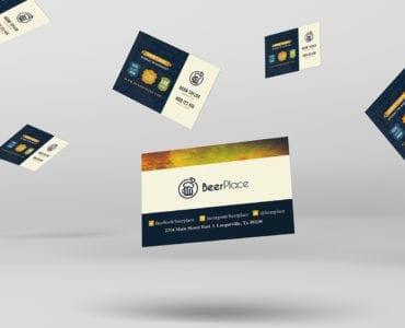 Local Pub Business Card Template