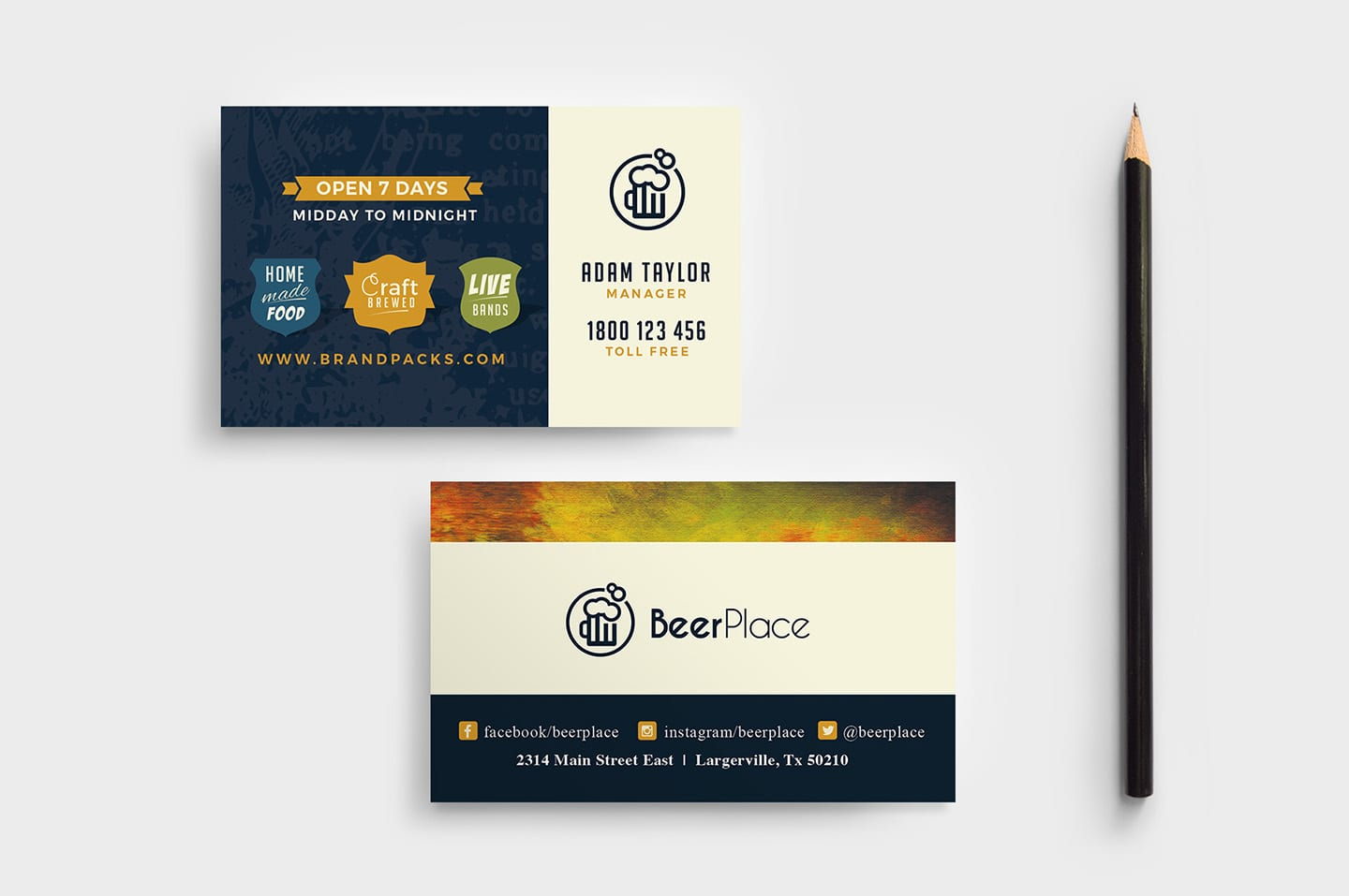Local Pub Business Card Template