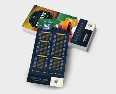Local Pub DL Rack Card Template