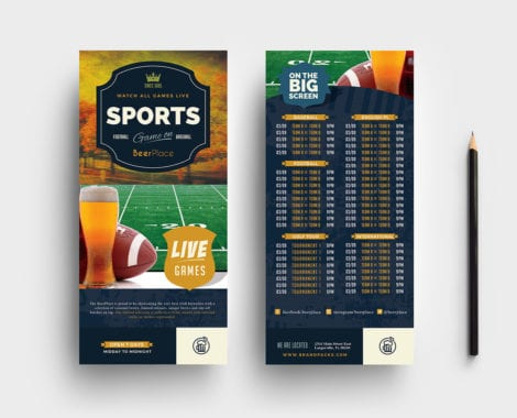 Local Pub DL Rack Card Template