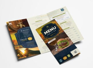 Local Pub Tri-Fold Menu Template