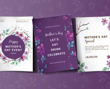 Mother's Day Poster Templates Vol.2