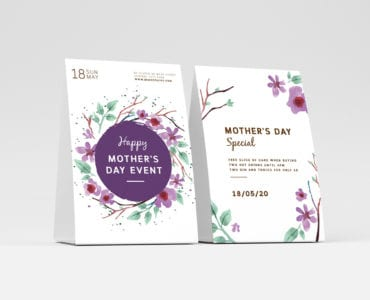 Mother's Day Sale Table Tent Templates