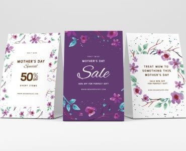 Mother's Day Table Tent Templates