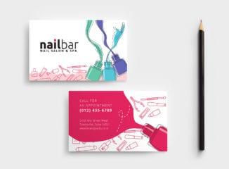 Nail Salon Business Card Template