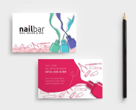 Nail Salon Business Card Template