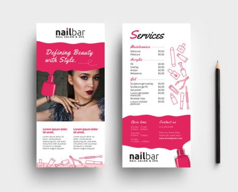 Nail Salon DL Rack Card Template